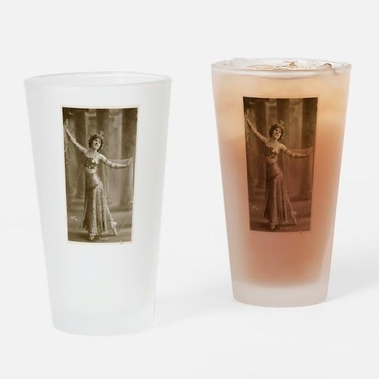 Vintage Cabaret Bellydancer Drinking Glass