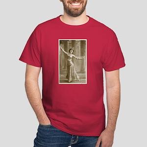 Vintage Cabaret Bellydancer Dark T-Shirt