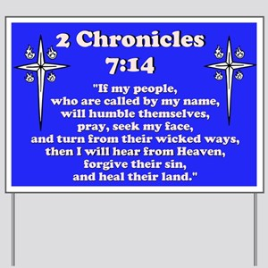 2 Chr 7:14 Cross HS Yard Sign