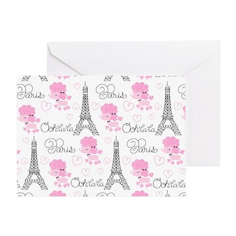 Paris Poodles Greeting Card