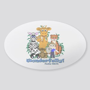 Wonderfully Made Sticker (Oval)