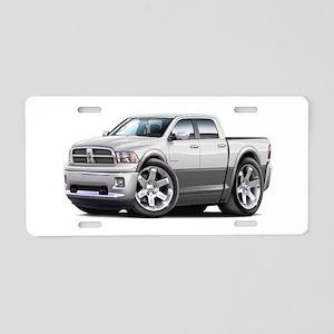 Ram White-Grey Dual Cab Aluminum License Plate