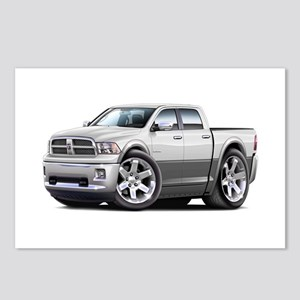 Ram White-Grey Dual Cab Postcards (Package of 8)