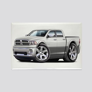 Ram White-Grey Dual Cab Rectangle Magnet