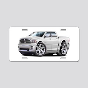 Ram White Dual Cab Aluminum License Plate
