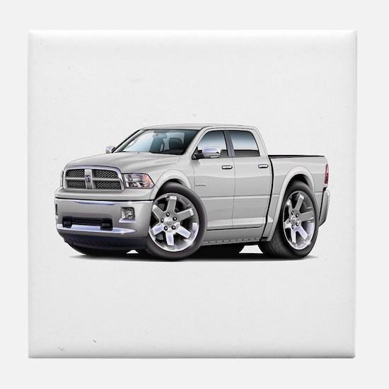 Ram White Dual Cab Tile Coaster