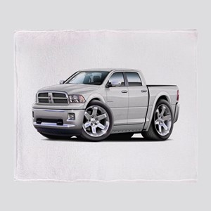Ram White Dual Cab Throw Blanket