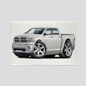 Ram White Dual Cab Rectangle Magnet