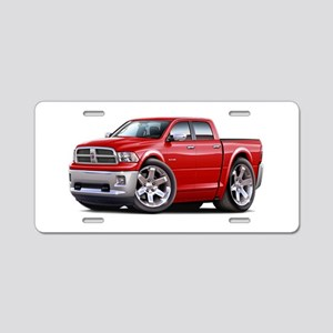 Ram Red Dual Cab Aluminum License Plate