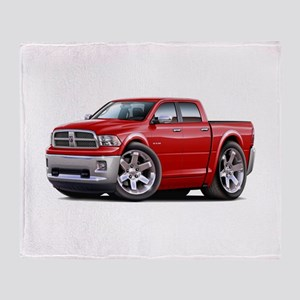 Ram Red Dual Cab Throw Blanket