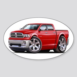 Ram Red Dual Cab Sticker (Oval)