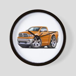 Ram Orange Truck Wall Clock