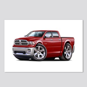 Ram Maroon Dual Cab Postcards (Package of 8)