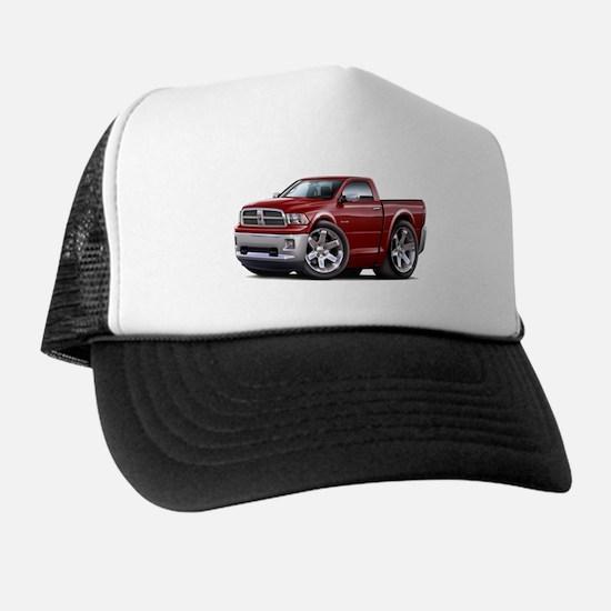 Ram Maroon Truck Trucker Hat