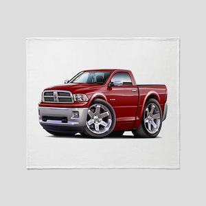 Ram Maroon Truck Throw Blanket