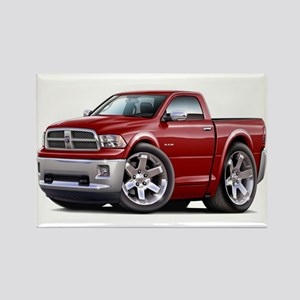 Ram Maroon Truck Rectangle Magnet
