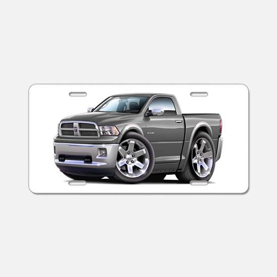 Ram Grey Truck Aluminum License Plate