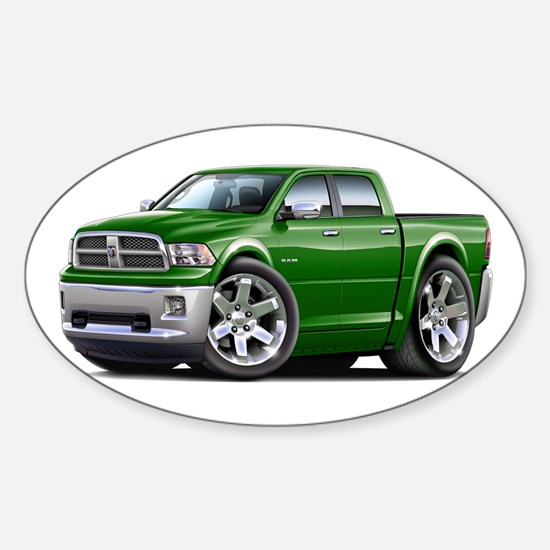 Ram Green Dual Cab Sticker (Oval)