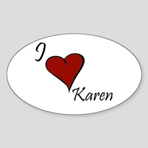 Karen Sticker (Oval)