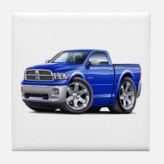 Ram Blue Truck Tile Coaster