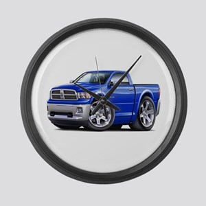 Ram Blue Truck Large Wall Clock