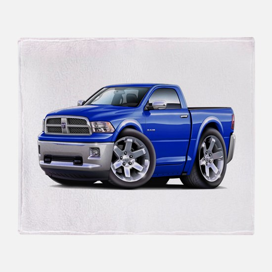 Ram Blue Truck Throw Blanket