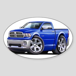 Ram Blue Truck Sticker (Oval)
