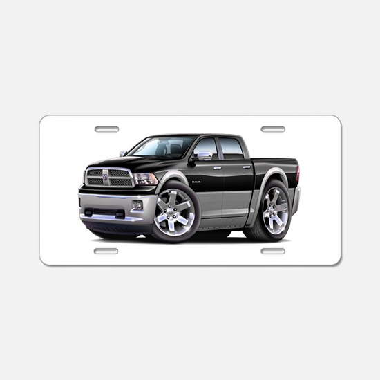 Ram Black-Grey Dual Cab Aluminum License Plate