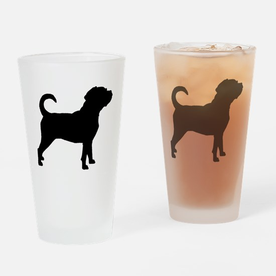 Puggle Dog Drinking Glass