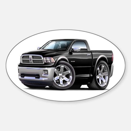 Ram Black Truck Sticker (Oval)
