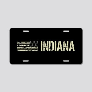 Black Flag: Indiana Aluminum License Plate