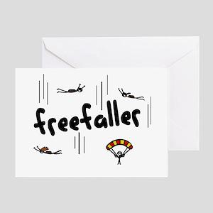 'Freefaller' Greeting Card