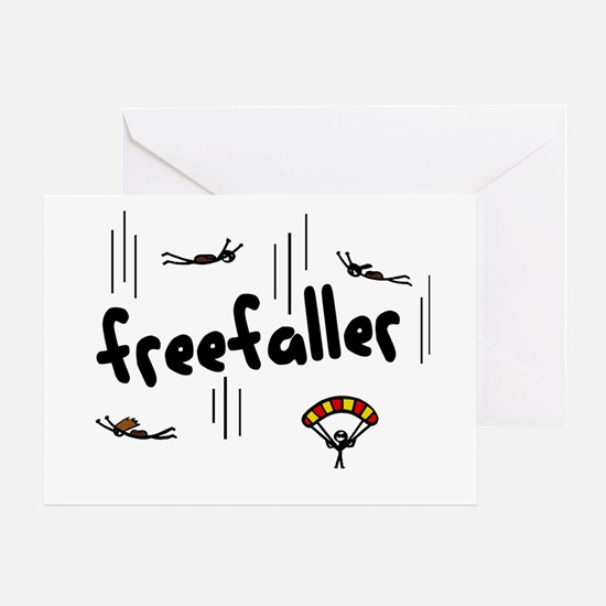 'Freefaller' Greeting Card