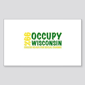 Occupy Wisconsin Sticker (Rectangle)
