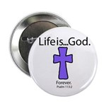 "Fun Stuff 2.25"" Button (10 pack): Cross Forev"
