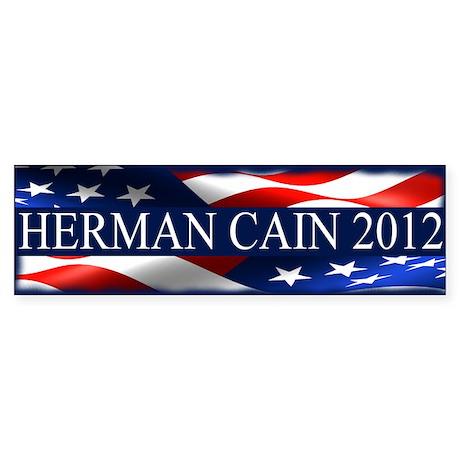 Herman Cain 2012 Sticker (Bumper)