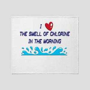 Chlorine in the Morning Throw Blanket