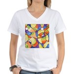 Carnival Balloons Women's V-Neck T-Shirt