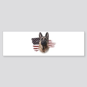 Patriotic German Shepherd Sticker (Bumper)