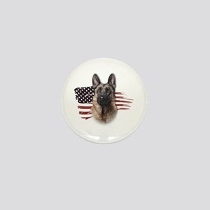 Patriotic German Shepherd Mini Button