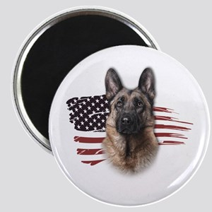 Patriotic German Shepherd Magnet