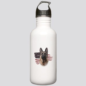 Patriotic German Shepherd Stainless Water Bottle 1