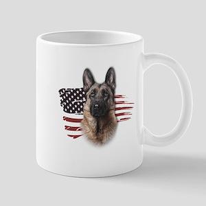 Patriotic German Shepherd Mug