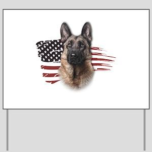 Patriotic German Shepherd Yard Sign