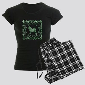 Alaskan Malamute Lattice Women's Dark Pajamas