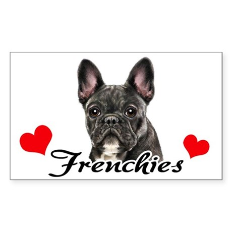 Love Frenchies - Brindle Sticker (Rectangle)