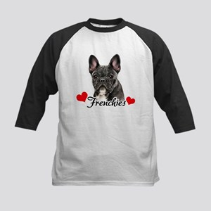 Love Frenchies - Brindle Kids Baseball Jersey