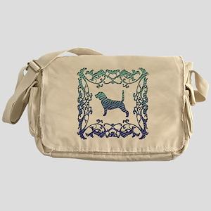 Beagle Lattice Messenger Bag