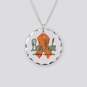 Beta Babe Necklace Circle Charm