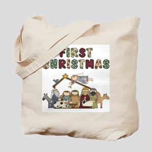 Nativity First Christmas Tote Bag